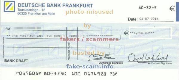 Bank Draft Auf Deutsch